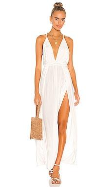 River Solid Triangle Plunge Dress Indah $172