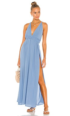 River Solid Triangle Plunge Dress Indah $172