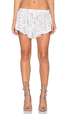Indah Bee Pleat Short in Peach Ibex