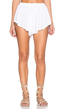 Indah Bee Pleat Short in White