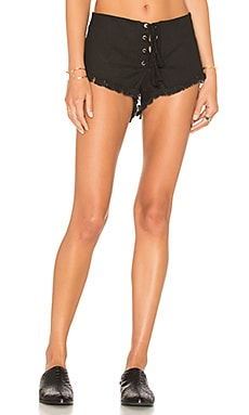 Vibe Lace Up Short in Black