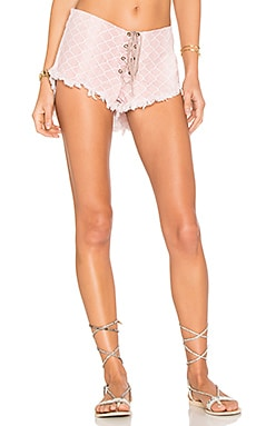 Vibe Lace Up Short in Bronze Casablanca