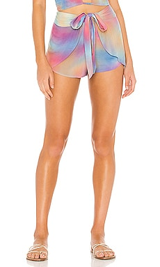 X REVOLVE Palm Wrap Short Indah $106