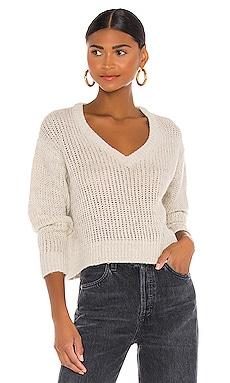 Josie V Neck Crop Sweater Indah $75