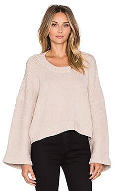 Indah Alta Handknit Oversize Sweater in Beige
