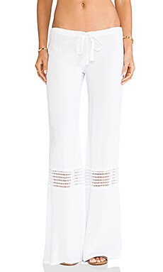Indah Flores Pant in White
