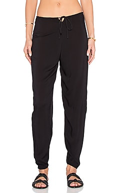 Indah Medi Drawstring Pant in Black