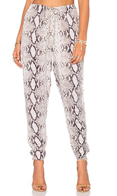 Medi Drawstring Pant in Natural Python