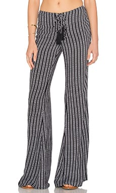 Indah Electric Printed Lace Up Pant in Black Nobel