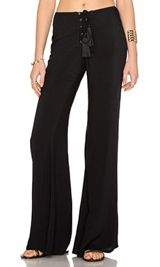 Indah Electric Lace Up Flare Pant in Black