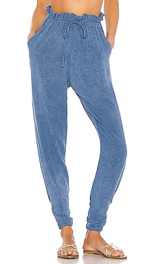 Iris Stonewash Paper Bag Waist Trouser Indah $150 NEW ARRIVAL