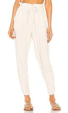 Iris Stonewash Paper Bag Waist Trouser Indah $150