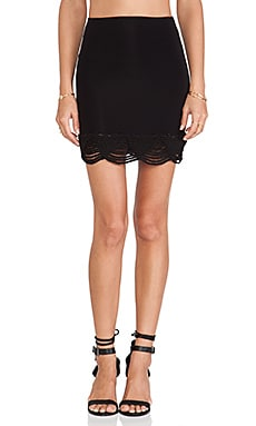 Indah Siren Lampshade Mini Skirt in Black