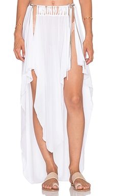 Indah Jamila Petal Maxi Skirt in White