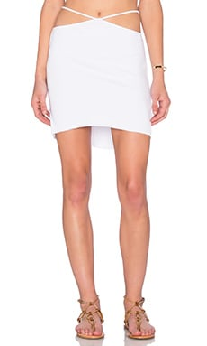 Bridgette Cutout Mini Skirt in White