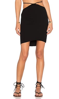 Bridgette Cutout Mini Skirt in Black