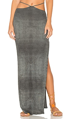 Gigi Maxi Skirt in Grey Crocodile