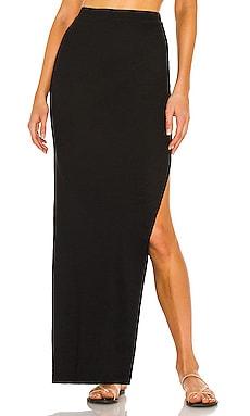 Boss Solid Side Slit Maxi Skirt Indah $92