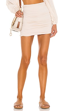 Cori Solid Gathered Seamless Mini Skirt Indah $66