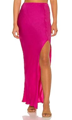 Mist Solid Bias Maxi Skirt Indah $224 NEW