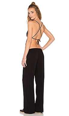 Giza Triangle Patchwork Jumpsuit in Black