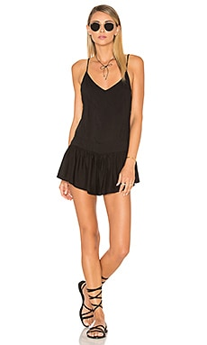 Breeze Patchwork Romper in Black