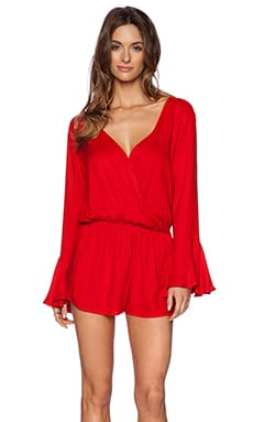 Indah Parnell Romper in Red