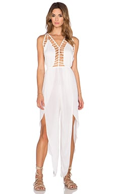 Indah Gypsy Petal Split Jumpsuit in Ivory