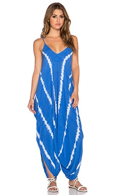 Indah Ivory 2 Harem Jumpsuit in Garis Blue