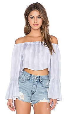 Indah Maua Crop Top in Grey Snake