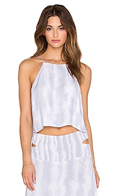 Indah Salt Printed Crop Cami in Grey Snake