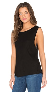 Apple Jersey Top in Black
