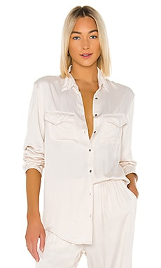 Emma Solid Long Sleeve Button Up Shirt Indah $136