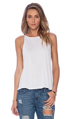 Indah Illusion Slit Side Tank in White
