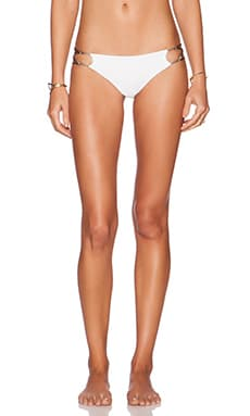 Indah Sasa Low Bottom Lace and Loop Up Bottom in White