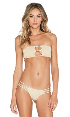 Indah Moto Bikini Top in Cream
