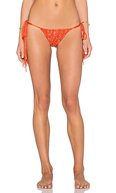 Indah Marjan Bikini Bottom in Tiedye Orange