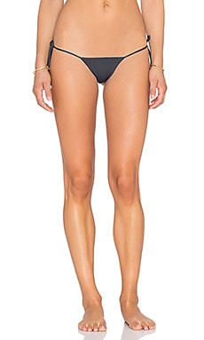 Indah Collins Solid String Bikini Bottom in Slate