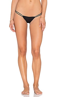 Indah Maresol Pinch Bum String Bikini Bottom in Black