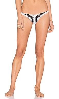 Indah Koh Samui Macrame Bikini Bottom in Black & White
