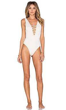 Indah Kennedy Reversible Swimsuit in Cream