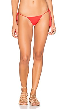 Collins Side Tie Bikini Bottom in Chili Pepper
