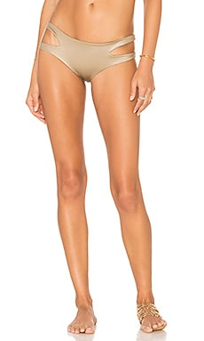 Indah Love Shimmer Bikini Bottom in Driftwood
