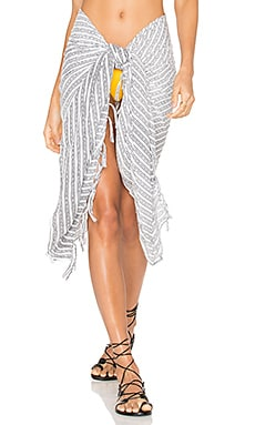 Fringe Sarong in White Nobel