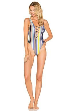 Rainey One Piece in 70s Stripe