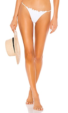 Bali Med Coverage Solid Ruched Fixed Side Bottom Indah $88