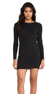 Inhabit Cashmere Sweater Dress in Charcoal