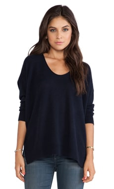 Inhabit Whisper Dos-nu Cashmere Sweater in Navy