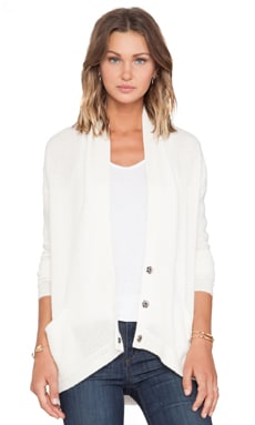 Inhabit Whisper Cashmere Cardigan in Ivory