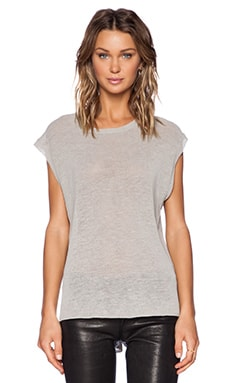 Inhabit Sleeveless Crew Neck Sweater in Fawn